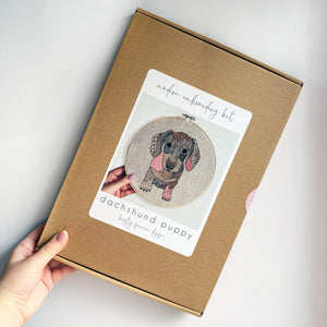 Dachshund Embroidery Kit