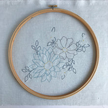 Load image into Gallery viewer, 'Endless Spring' Duck Egg Floral Embroidery Kit