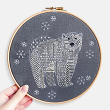Load image into Gallery viewer, Polar Bear Christmas Embroidery Kit