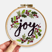 Load image into Gallery viewer, JOY Christmas Cross Stitch Kit