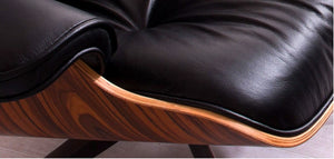 Eames Style Lounge Chair with Ottoman (Rosewood)