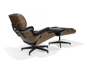 Eames Style Lounge Chair with Ottoman (Walnut)