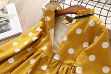 Load image into Gallery viewer, Harith'sFashion Children's Dress with Polka Dots