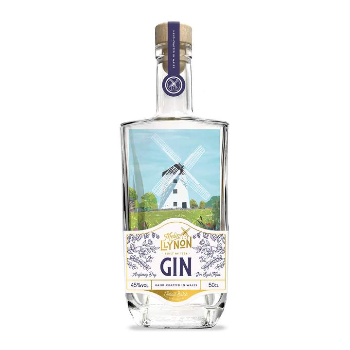 Melin Llynon Dry Gin Janet Bell Collector's Edition