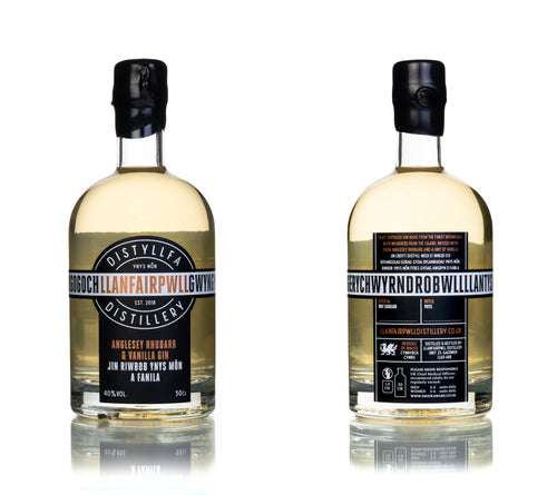 Llanfairpwll Distillery Anglesey Rhubarb & Vanilla Gin Welsh Alcohol