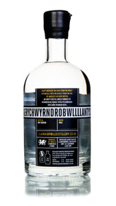 Llanfairpwll Distillery Anglesey Dry Gin Back Welsh Alcohol