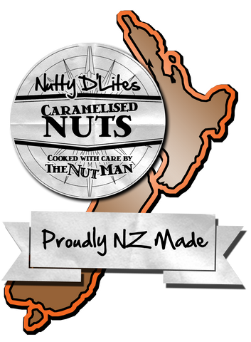 Nutty D'Lites - Roasted Caramelised Nuts are available throughout New Zealand