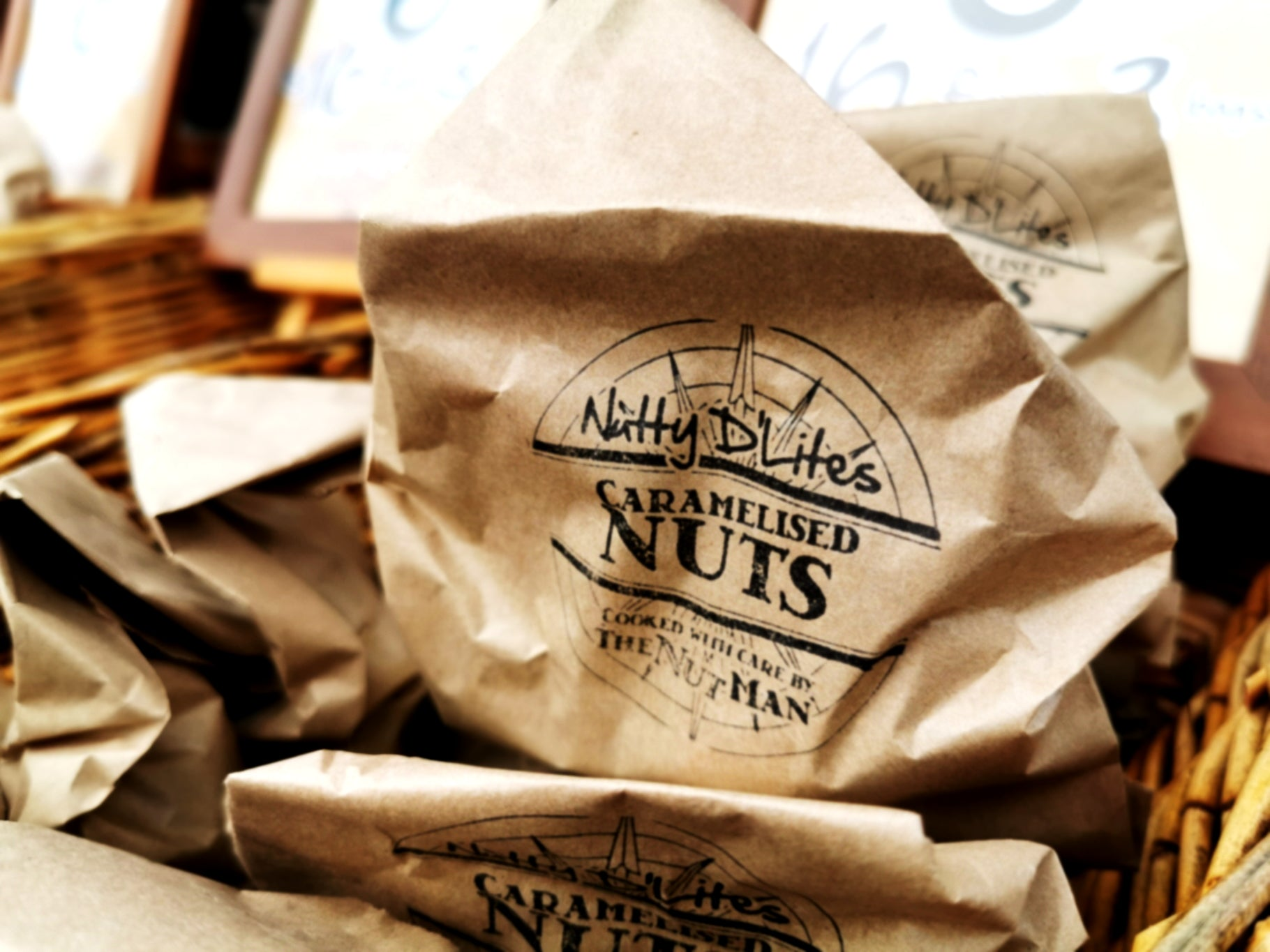 3 bag selection - Cashews, Almonds and Hazelnuts