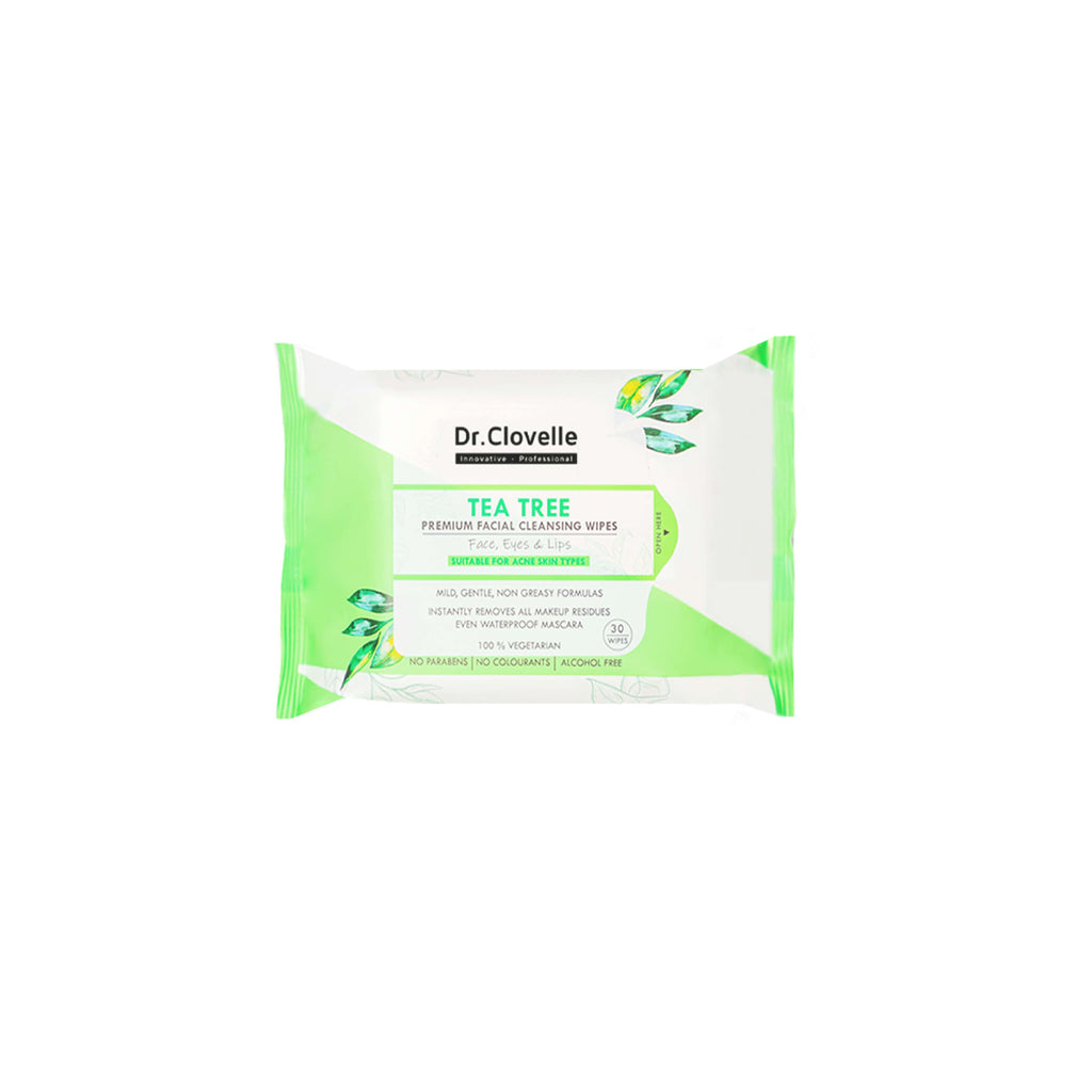 Dr.Clovelle Premium Facial Cleansing Wipes - Tea Tree
