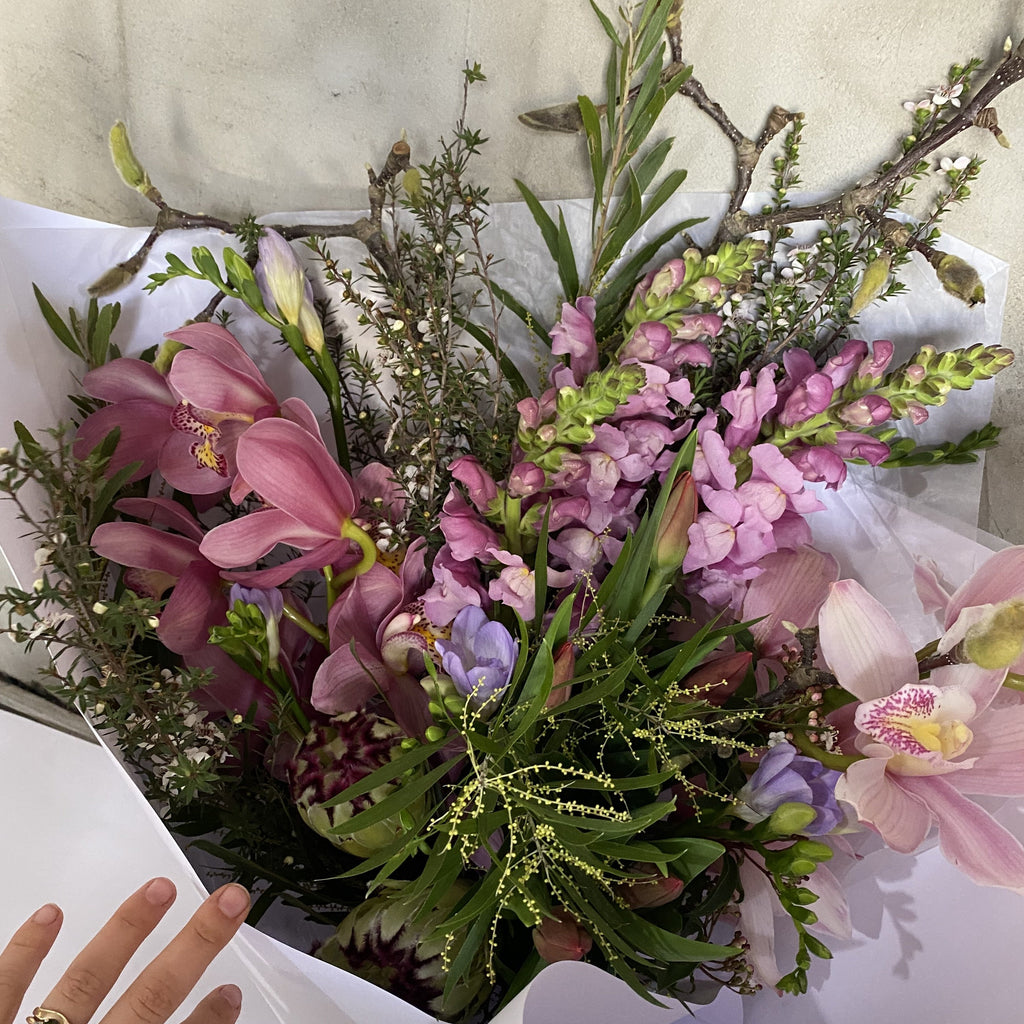 Creative Pastel Flower Bouquet