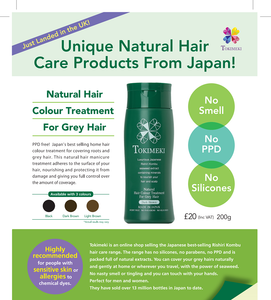 RISHIRI Natural Hair Colour Treatment - made in Japan