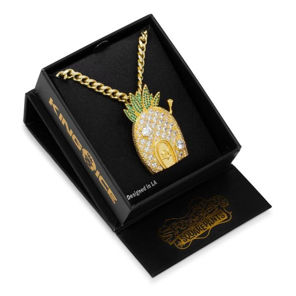 King Ice Spongebob Pineapple House Necklace