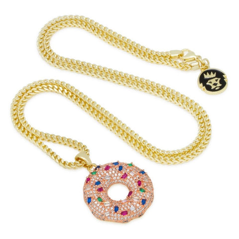King Ice Donut Necklace