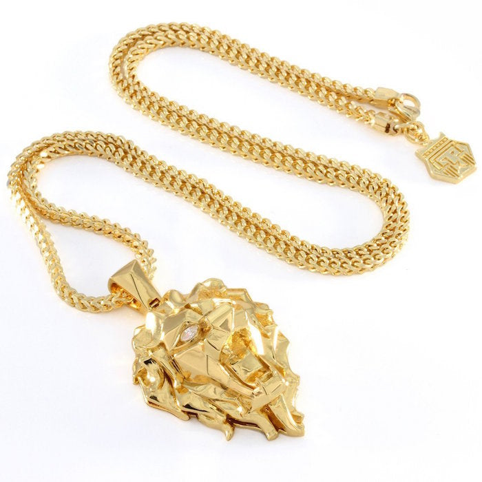 King Ice Faceted Lion Necklace