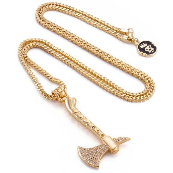 King Ice Tomahawk Necklace