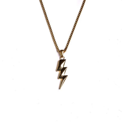 Golden Gilt Flash Bolt Necklace