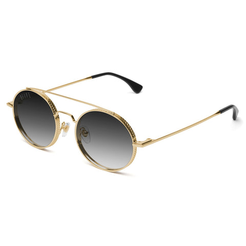 9Five 50-50 24K Gold Gradient Sunglasses