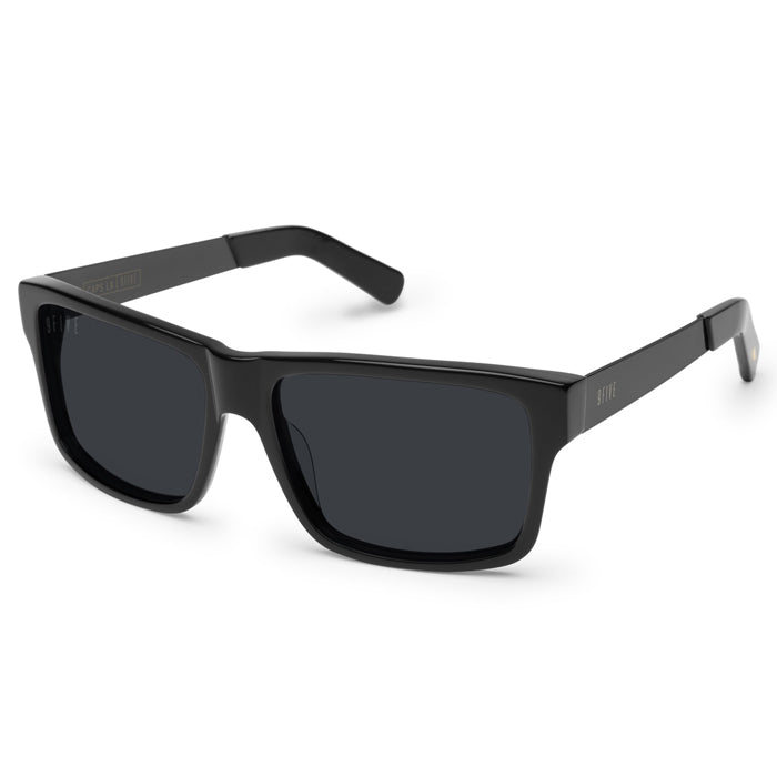 9Five Caps LX Black Sunglasses