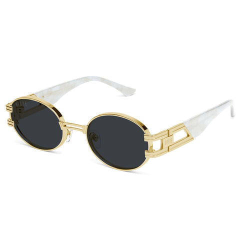 9Five St. James Marble 24K Gold Sunglasses