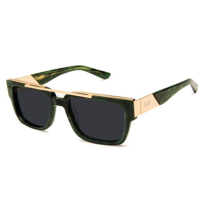 "9Five ""24"" Jade Stone 24K Gold Sunglasses"