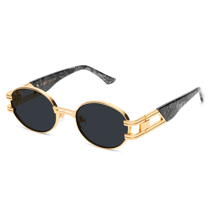 9Five St. James Black Marble Sunglasses