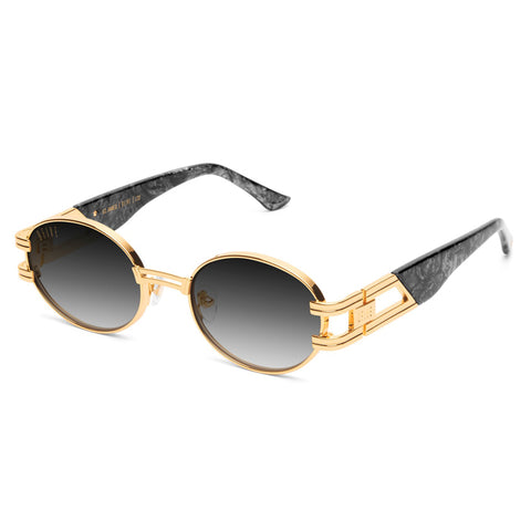 9Five St. James Black Marble Gradient Sunglasses
