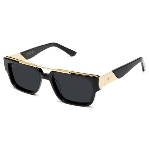 "9Five ""24"" Black 24K Gold Sunglasses"