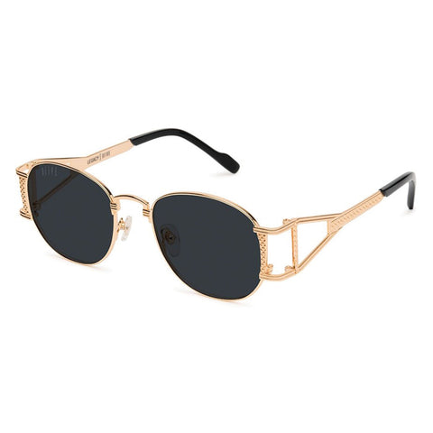 9Five Del Rey Black 24K Gold Gradient Sunglasses