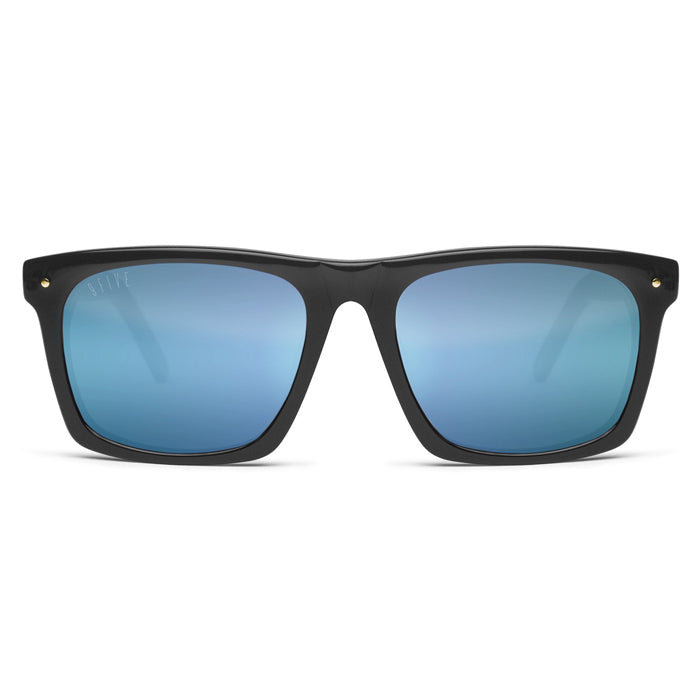 9Five Watson Black & Blue Lens Sunglasses