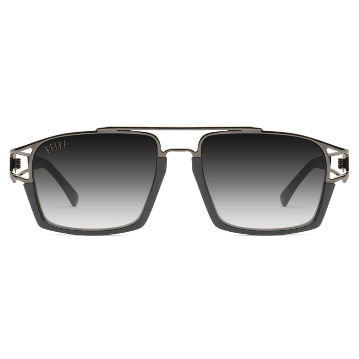 9Five Kingpin Gunmetal Gradient Sunglasses