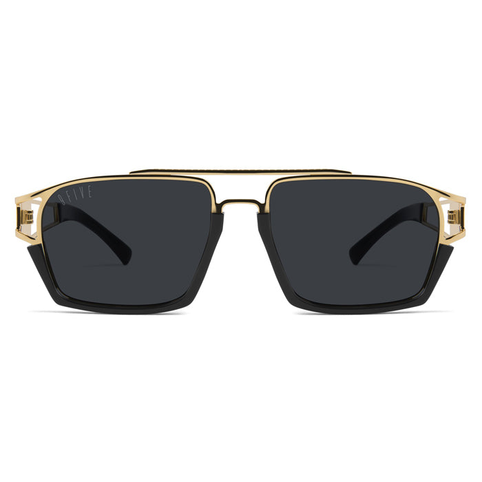 9Five Kingpin 24K Gold Sunglasses
