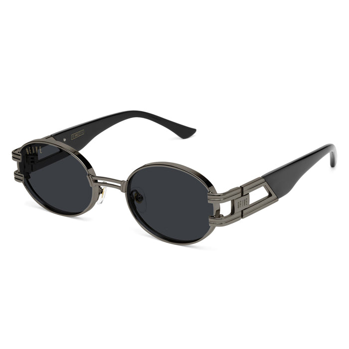 9Five St. James Gunmetal Sunglasses