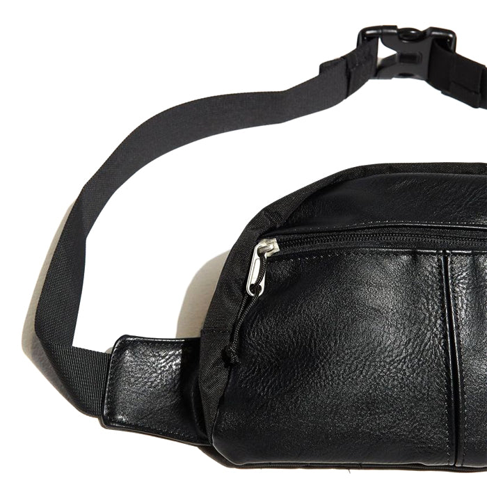 Lifted Anchors Black Leather Bag