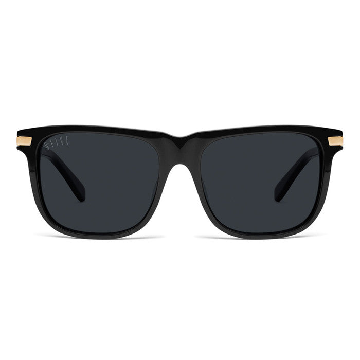 9Five Atlas Black 24K Gold Sunglasses