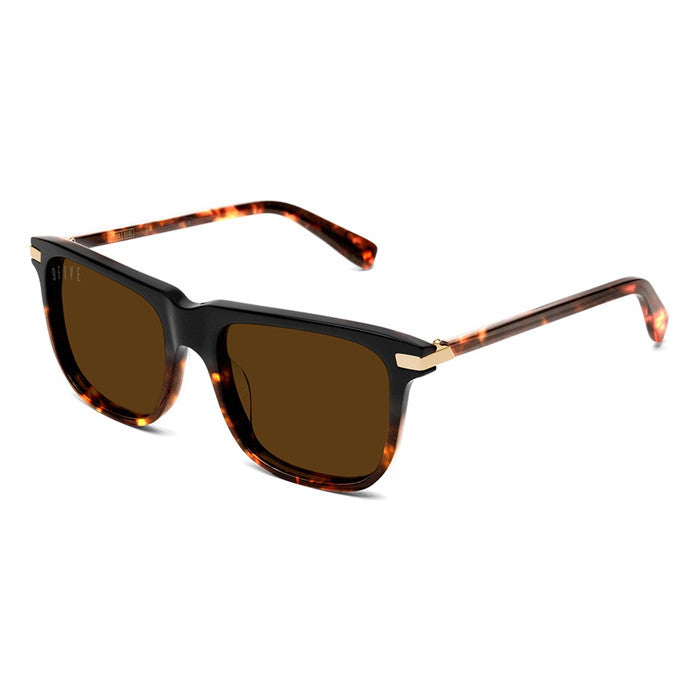 9Five Atlas Tortoise 24K Gold Sunglasses