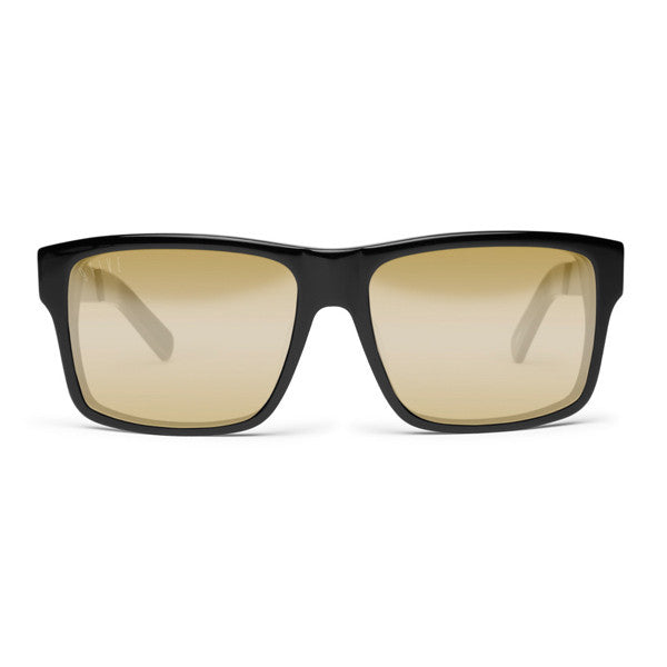 9Five Caps LX Black & Gold Lens Sunglasses