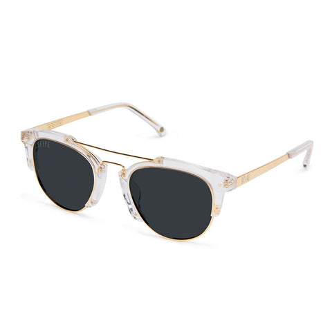 9Five Del Rey Crystal 24K Gold Sunglasses