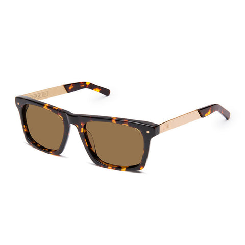 9Five Watson LX Tortoise 24K Gold Sunglasses