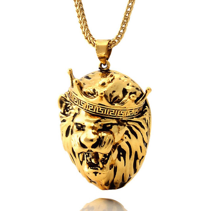 King Ice Roaring Lion Necklace