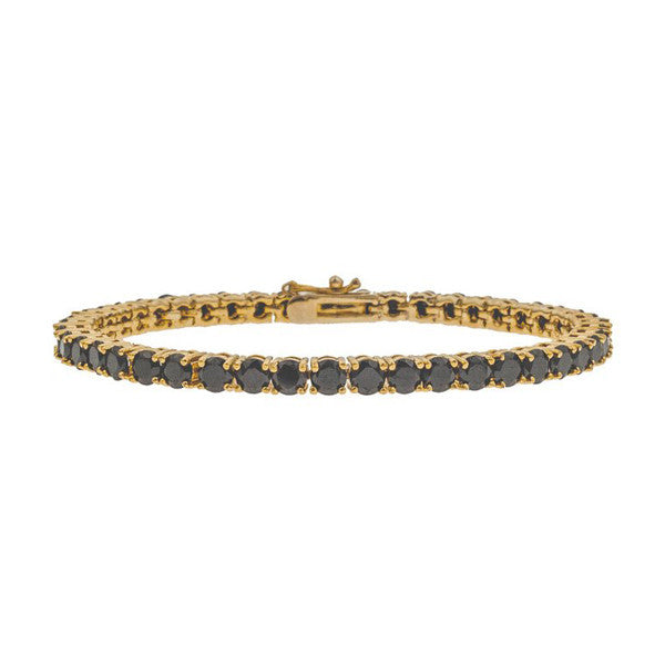 Mister Crystal Gold & Black Bracelet