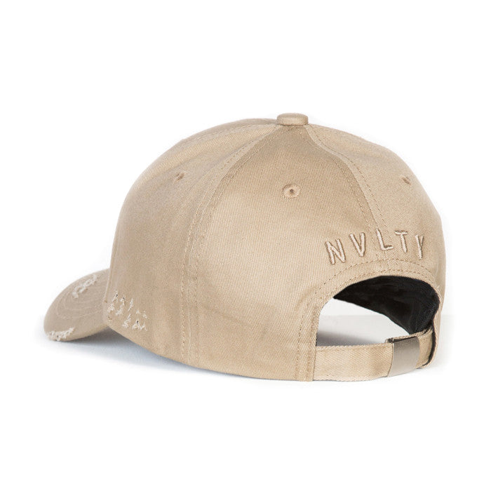 NVLTY Beige Distressed Hat