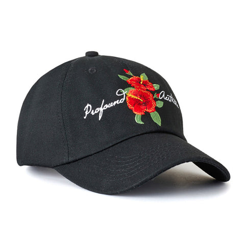 Profound Co. Black Hibiscus Hat