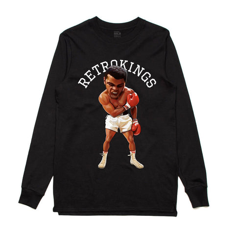 Retro Kings Ali Black L/S Tee
