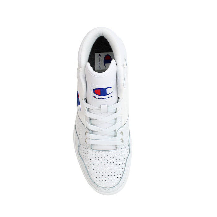 Champion 3 on 3 White Leather Shoes