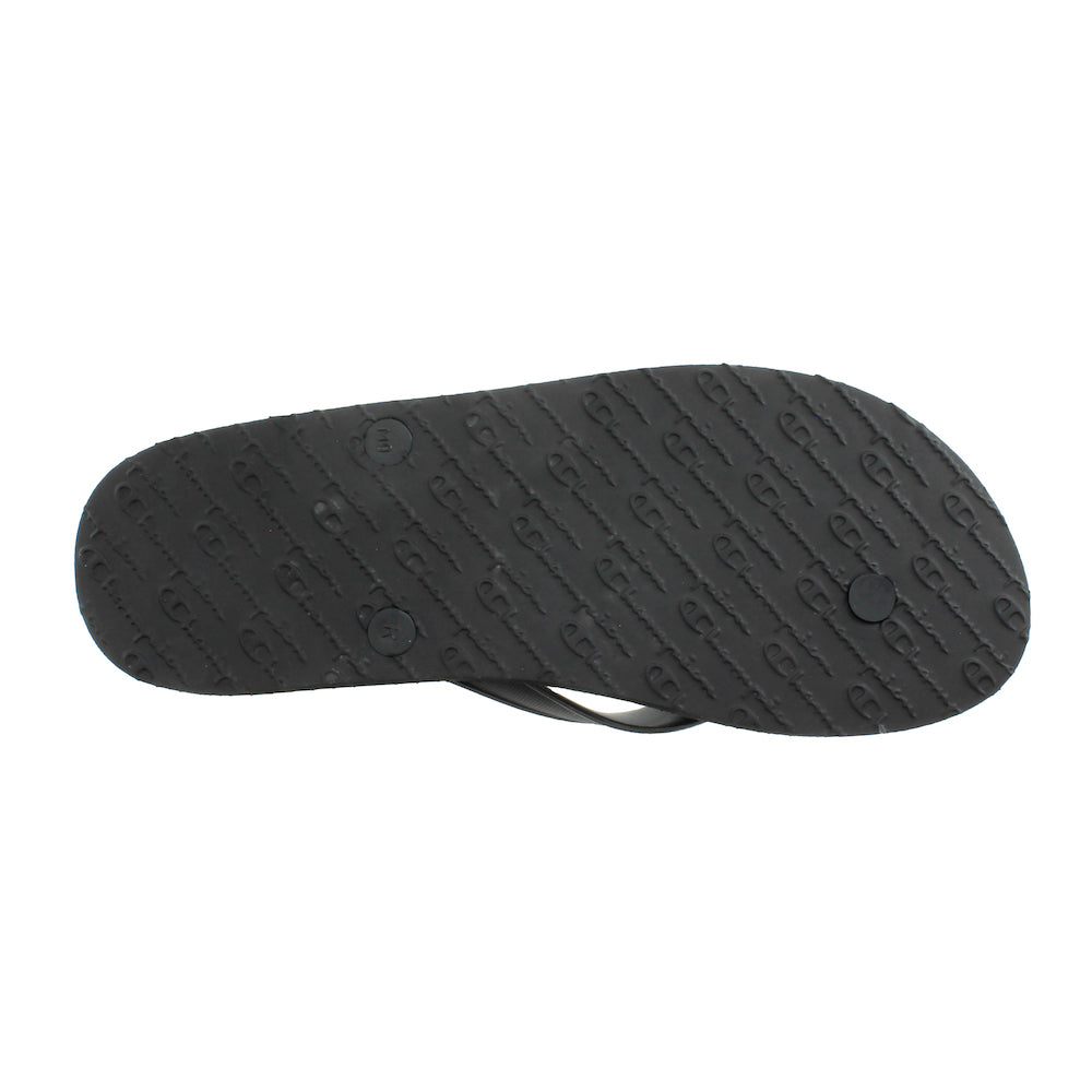 "Champion Repeat ""C"" Black Flip Flops"