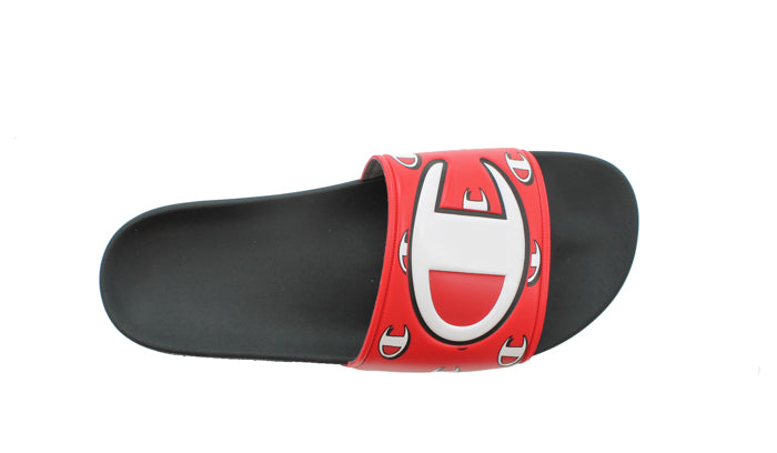 Champion IPO Repeat Black & Red Slides