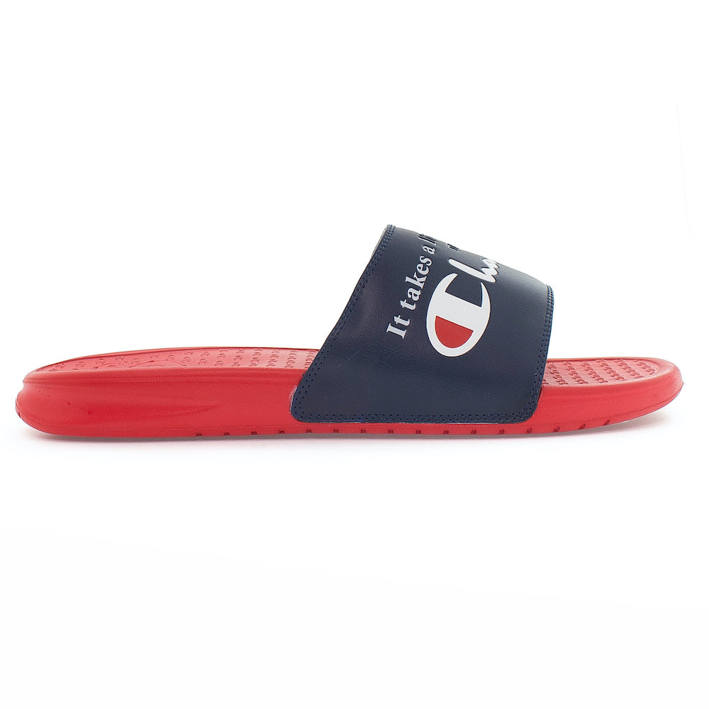 Champion Navy & Red Super Slides