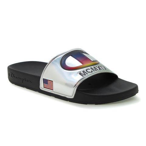 Champion IPO Metallic Silver Slides