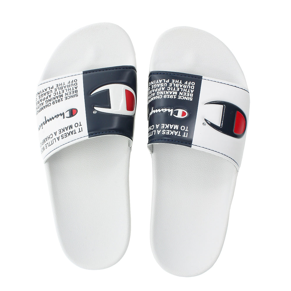 Champion IPO Split Jock White Slides