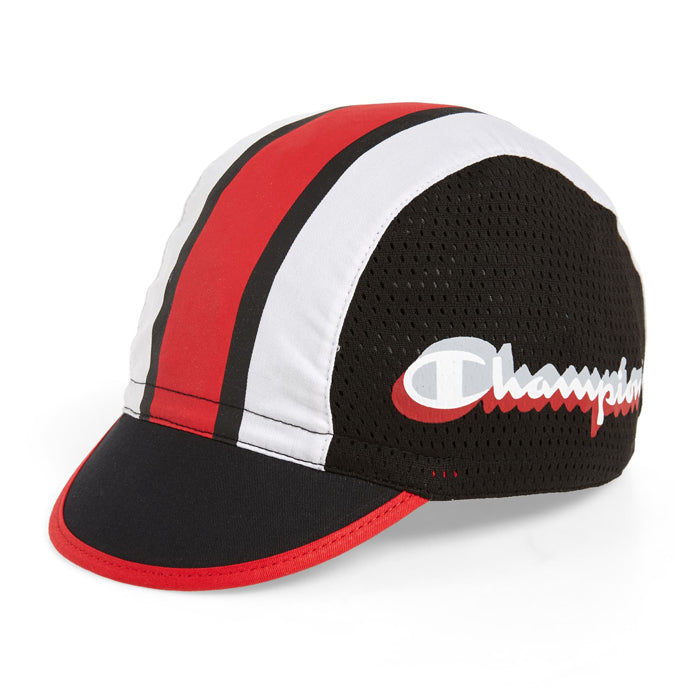 Champion Black & Scarlet Cycling Cap